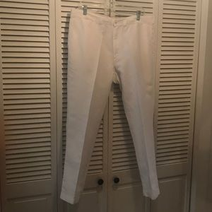 Linen blend white pants by Ralph Lauren Polo & Co
